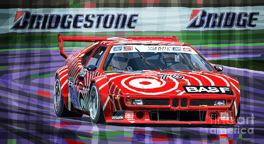 Bmw M1 1979 Digital Art