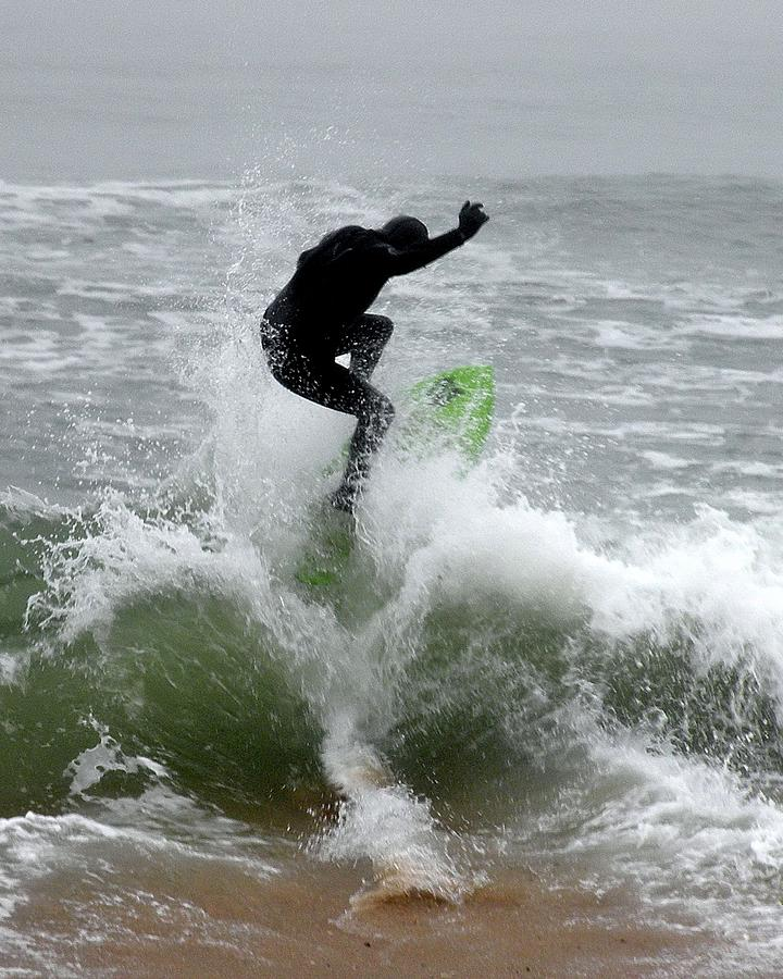 Boardskimming Photograph - Boardskimming - Into The Surf by Kim Bemis