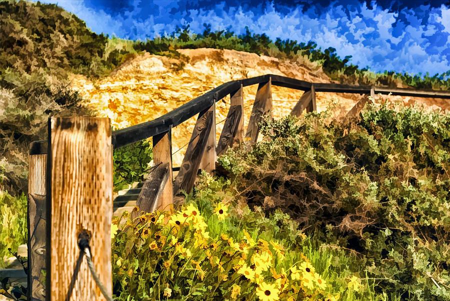Boardwalk Steps Painting