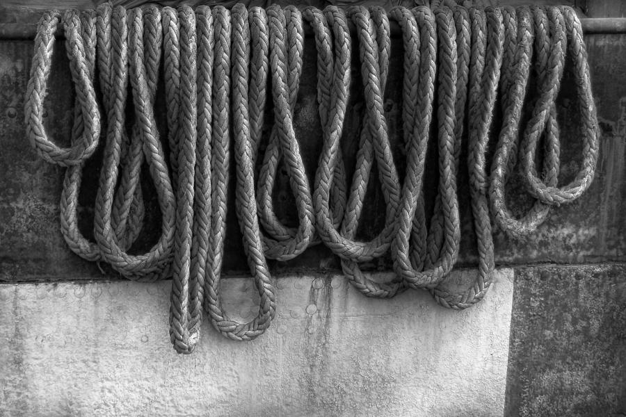 Boat - Abstract - Fit To Be Tied Photograph  - Boat - Abstract - Fit To Be Tied Fine Art Print