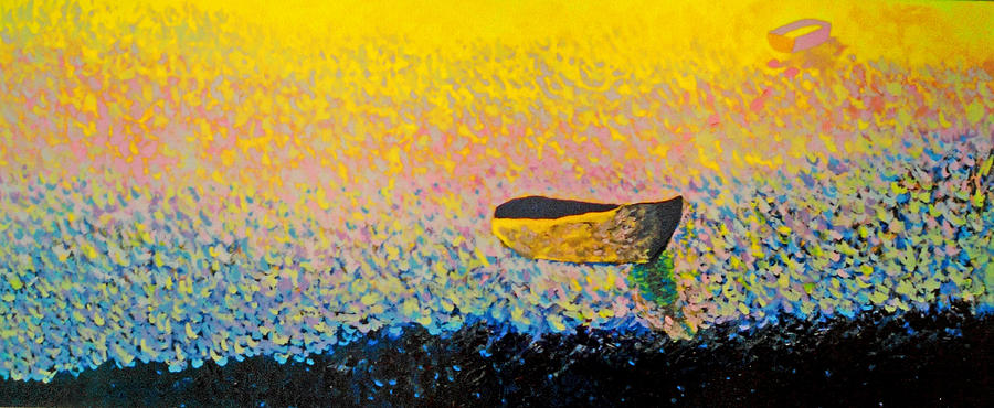 Landscape Painting - Boat by Andrew Petras