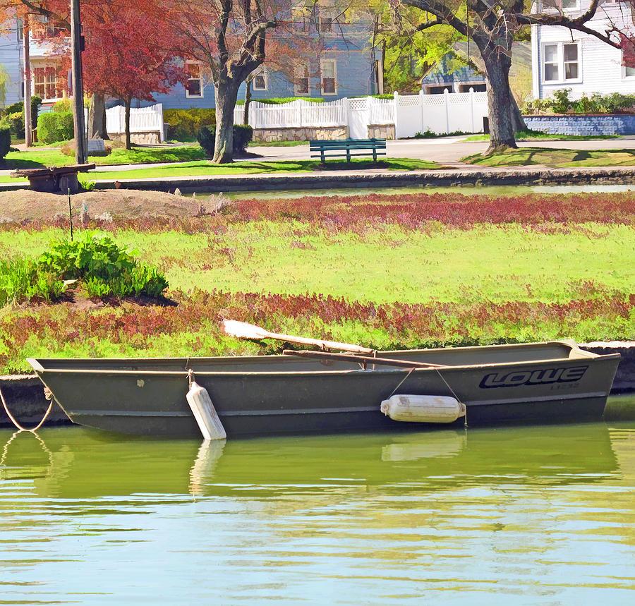 Boat Digital Art - Boat At The Pond by Barbara McDevitt