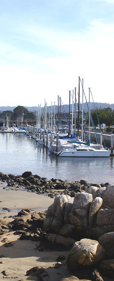 Boat Dock And Big Rocks Right Digital Art