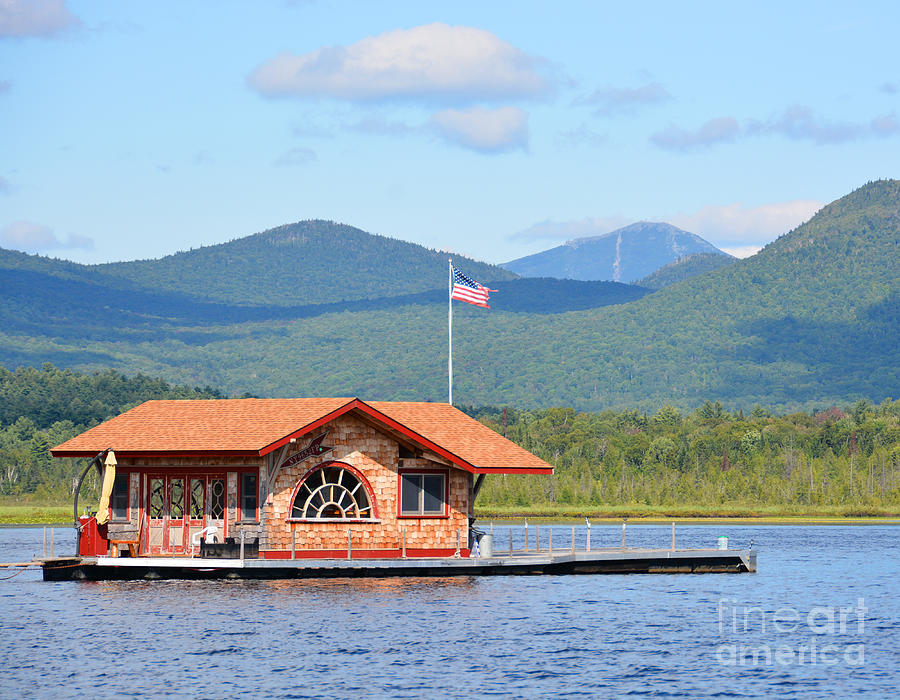 Boat house adirondack style photograph by christine dekkers for Adirondack style homes