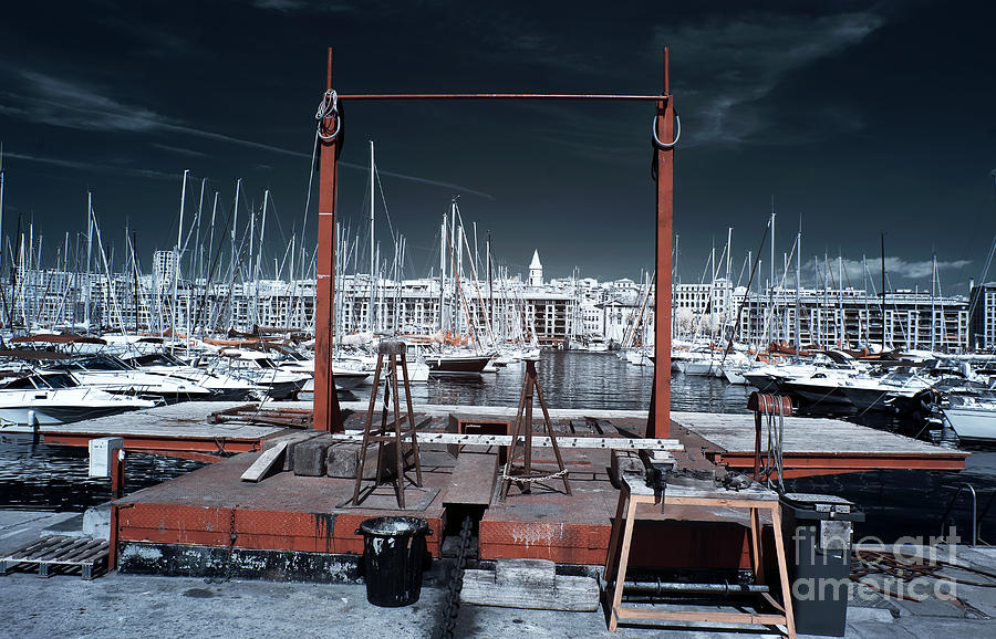 Boat Lift In The Port Photograph