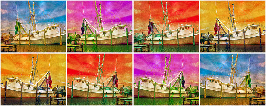 Boat Of A Different Color Digital Art  - Boat Of A Different Color Fine Art Print