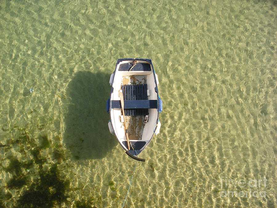 Boat On Ocean Photograph  - Boat On Ocean Fine Art Print