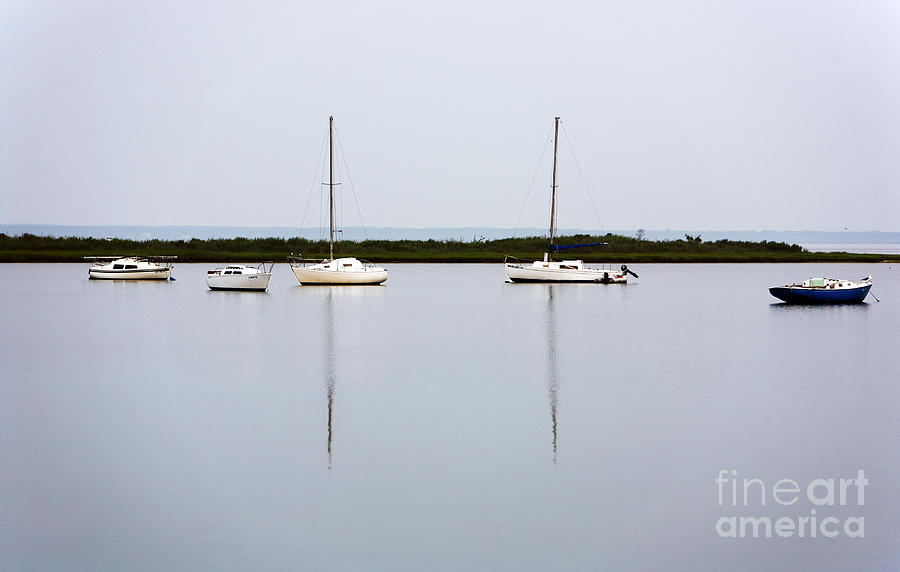 Boat Reflections Photograph  - Boat Reflections Fine Art Print