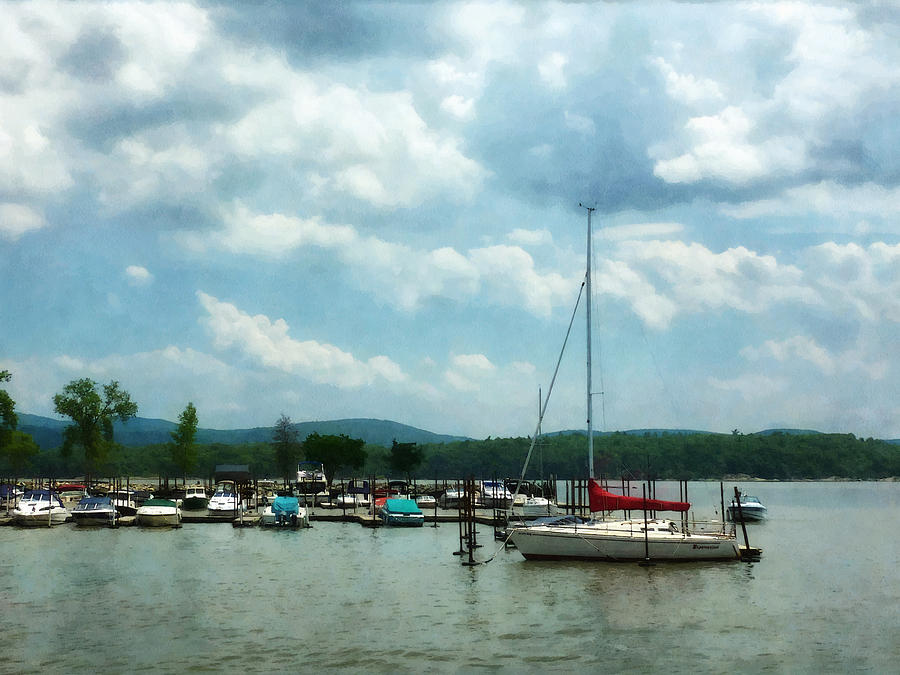 Boat - Sailboat At Dock Cold Springs Ny Photograph