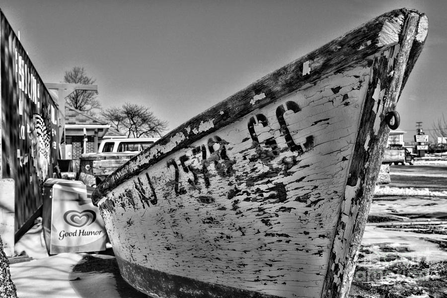Boat - State Of Decay In Black And White Photograph