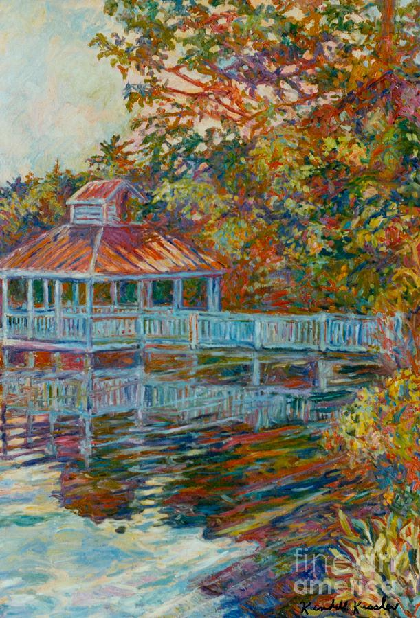 Boathouse At Mountain Lake Painting