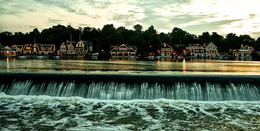 Boathouse Row And Fairmount Dam Photograph  - Boathouse Row And Fairmount Dam Fine Art Print