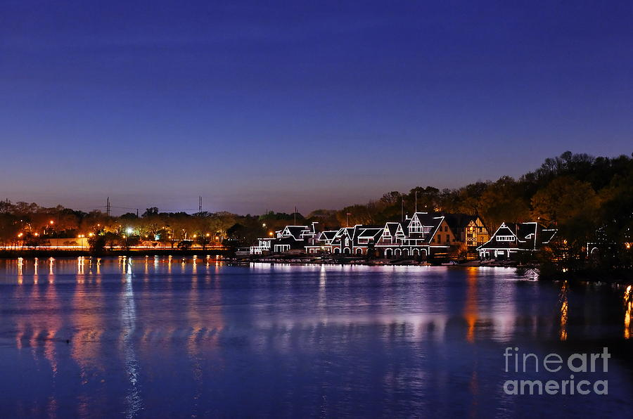 Boathouse Row Philly Photograph