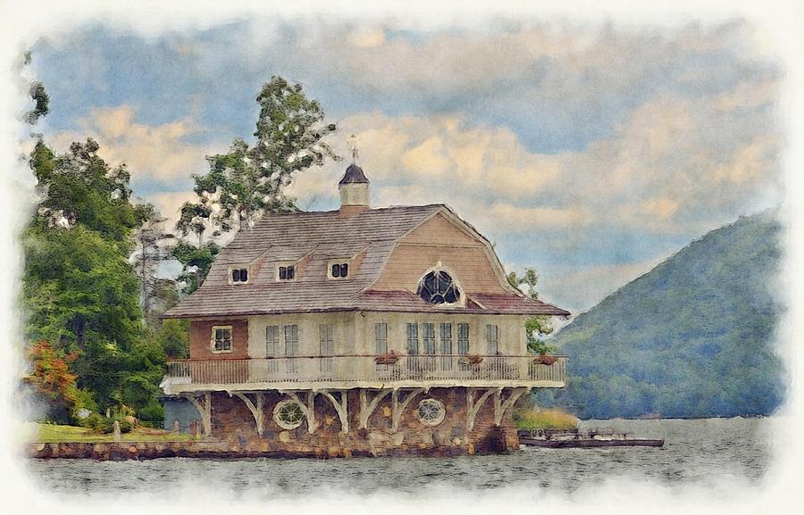 Boathouse Photograph - Boathouse  by Susan Leggett