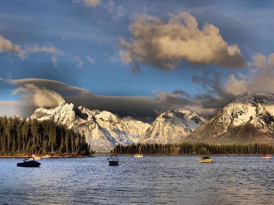 Boating In The Tetons Photograph