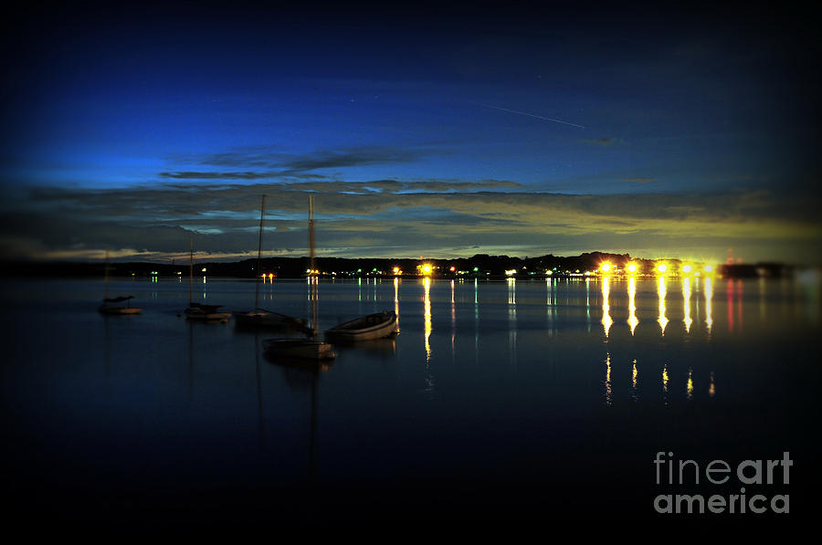 Boating - The Marina At Night Photograph  - Boating - The Marina At Night Fine Art Print