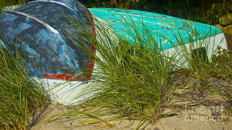 Boats And Beachgrass Photograph