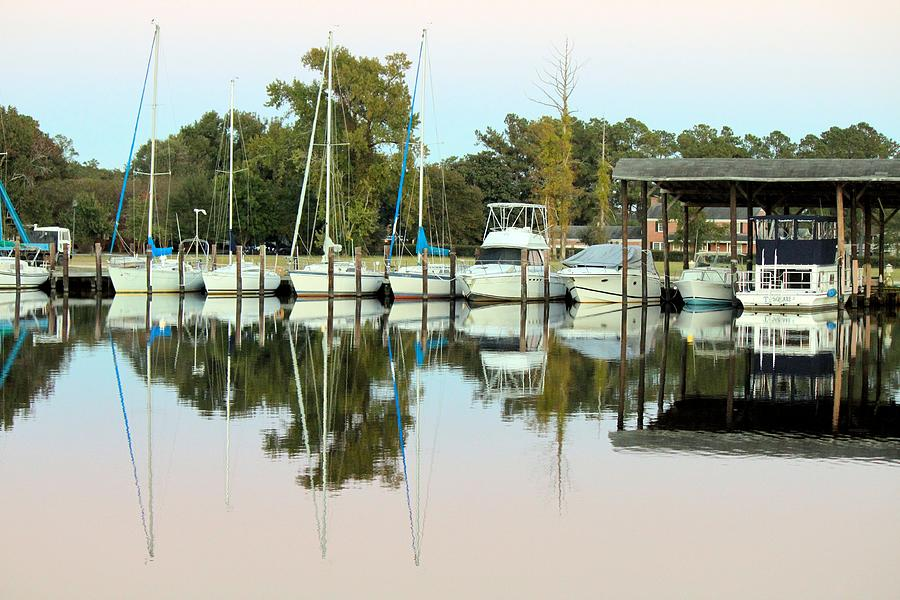 Boats And Reflections Photograph