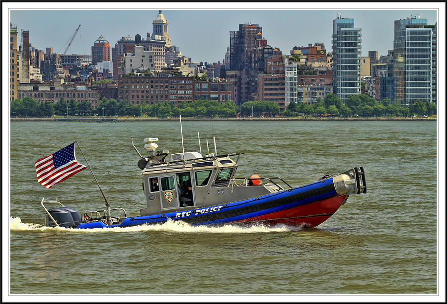 boats and ships on the Hudson Photograph