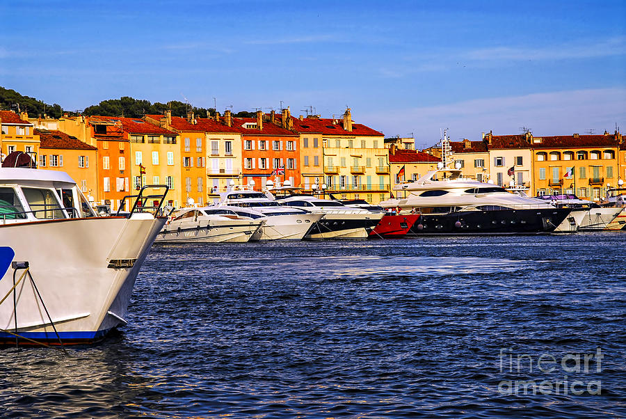 Boats At St.tropez Harbor Photograph