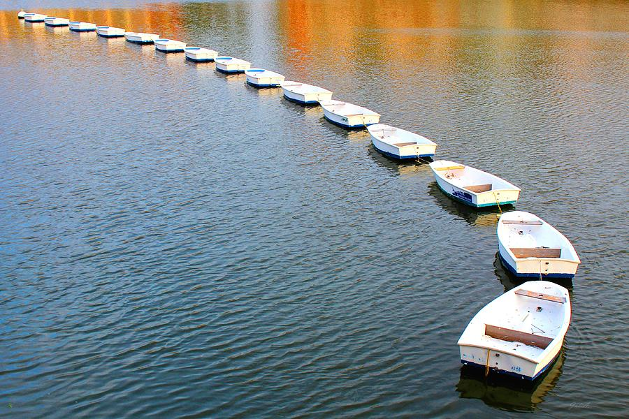 Boats Dance Photograph  - Boats Dance Fine Art Print