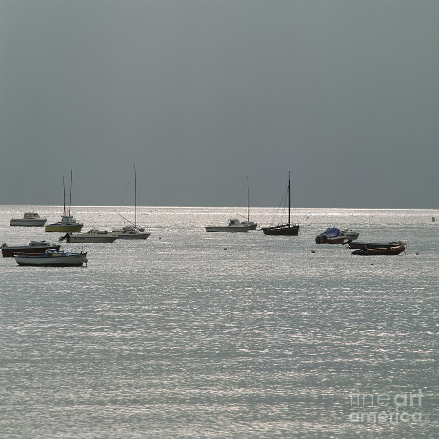 Boats In The Sea. Normandy. France. Europe Photograph  - Boats In The Sea. Normandy. France. Europe Fine Art Print