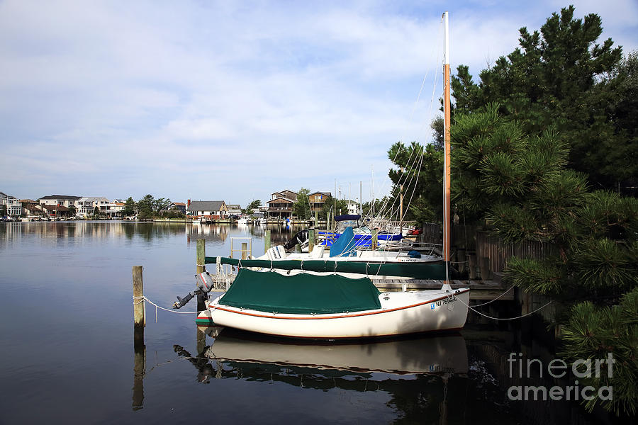 Boats Of Long Beach Island Color Photograph