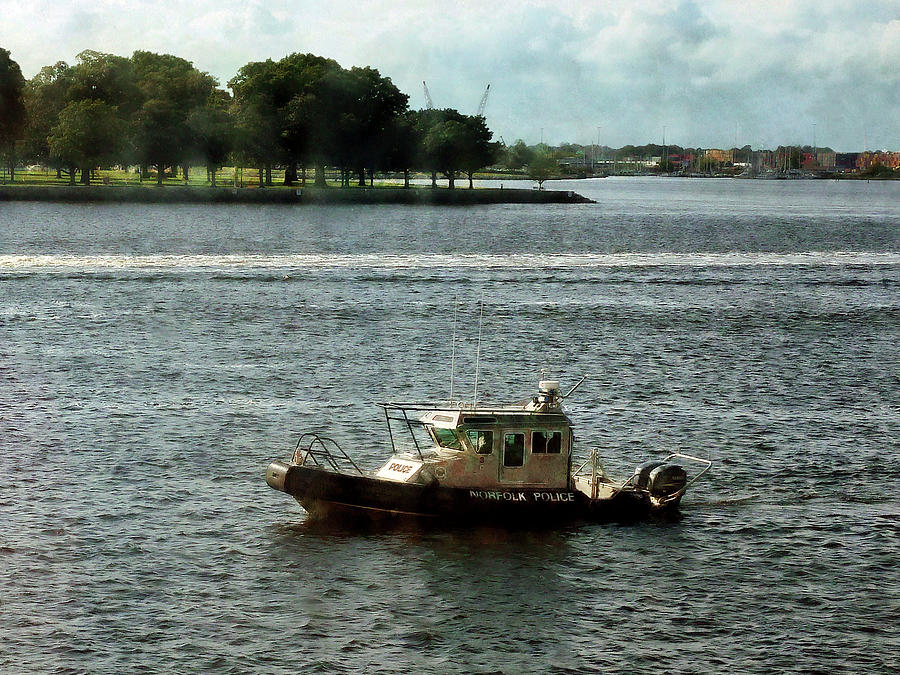 Boats - Police Boat Norfolk Va Photograph
