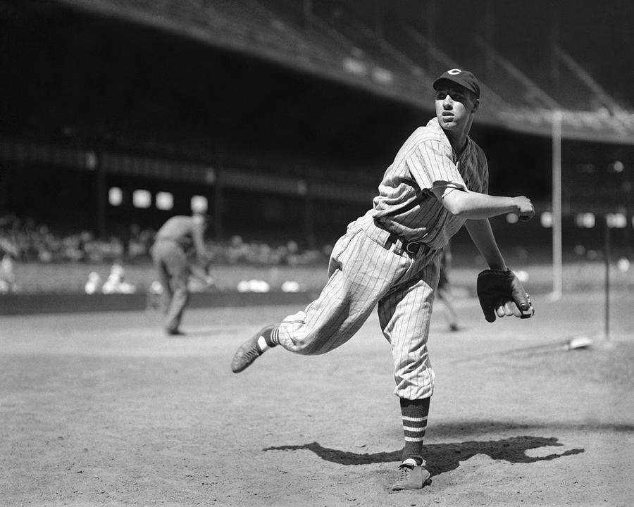 Bob Feller Pitches Photograph
