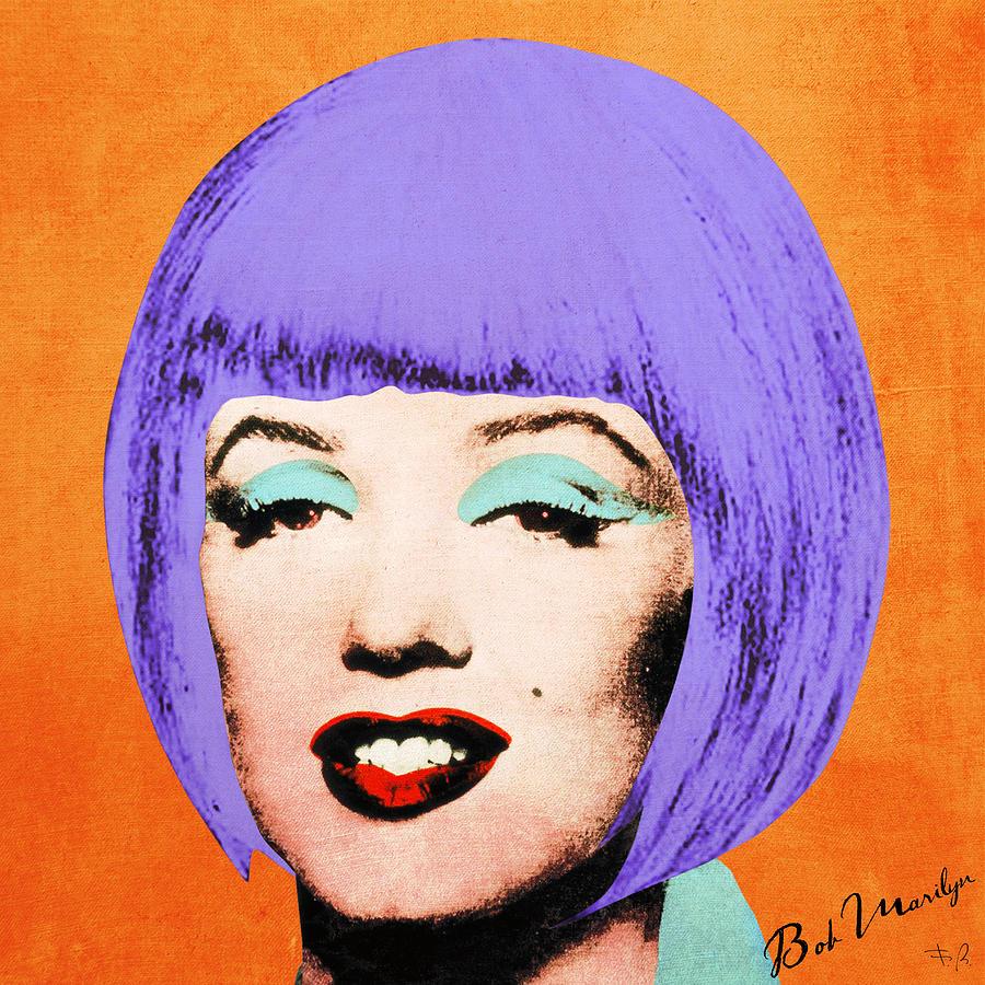Pop Digital Art - Bob Marilyn Variant 3 by Filippo B