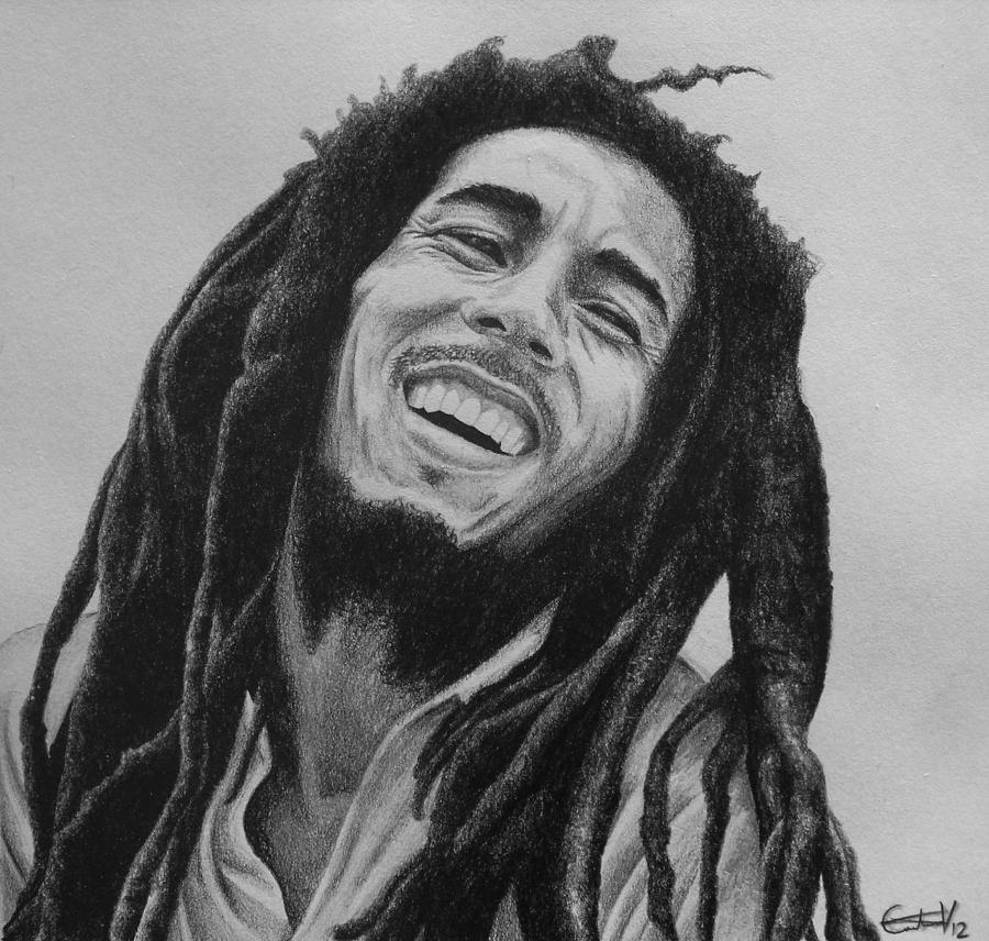 Bob Drawing - Bob Marley by Carlos Velasquez Art