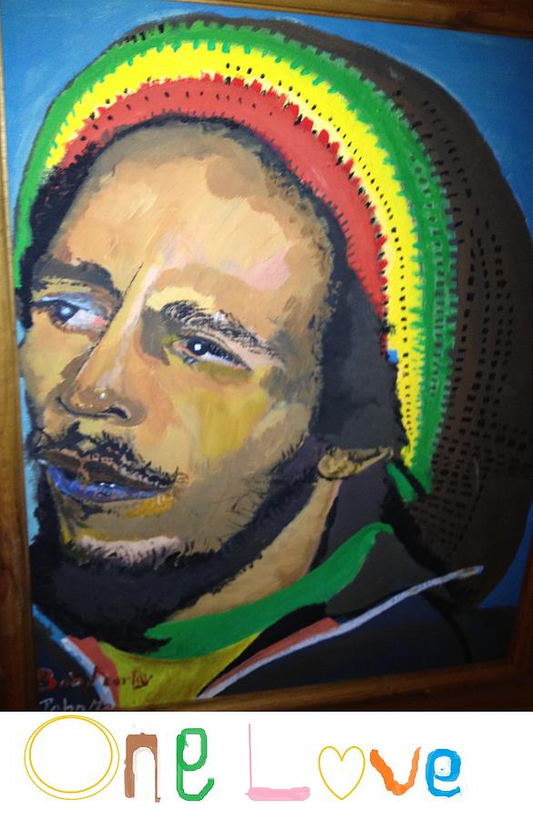 Bob marley one love painting by john onyeka for Bob marley mural