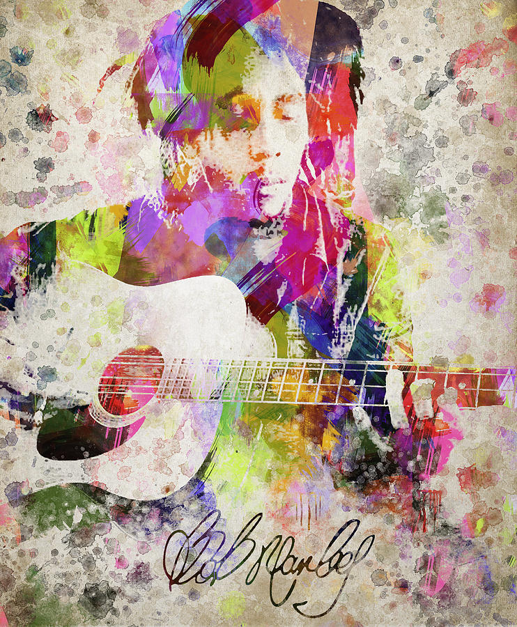 Bob Marley Portrait Digital Art