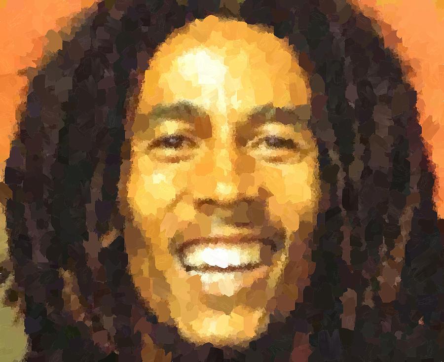 Bob Marley Portrait Painting By Samuel Majcen