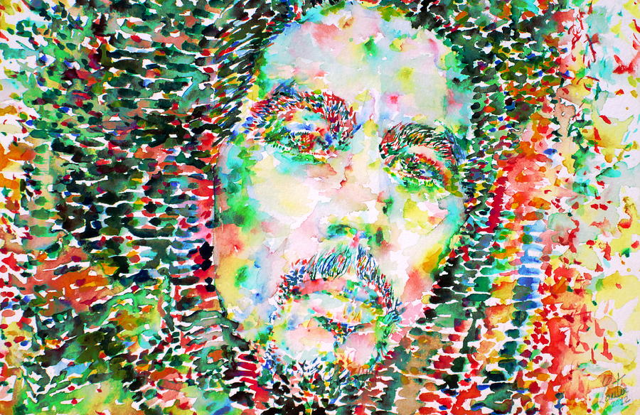 Bob Marley Watercolor Portrait.3 Painting  - Bob Marley Watercolor Portrait.3 Fine Art Print