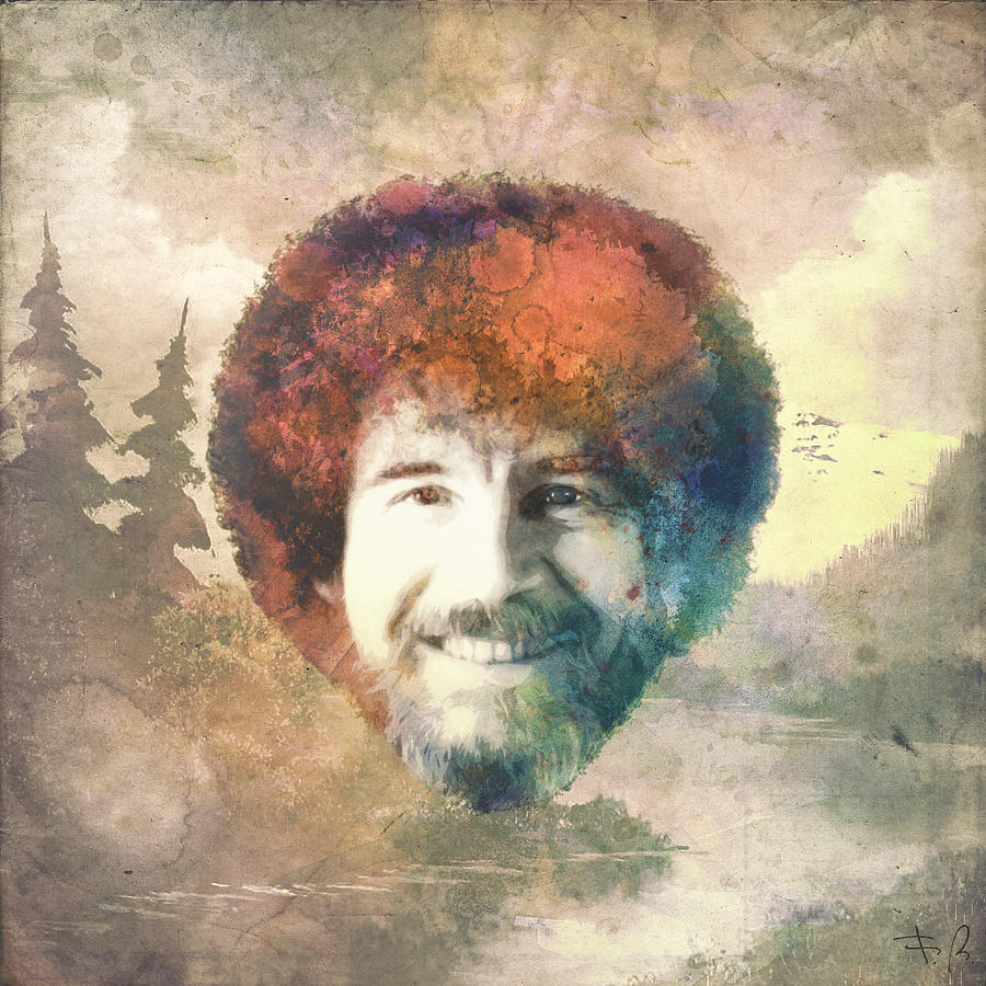 Bob Digital Art - Bob Ross by Filippo B