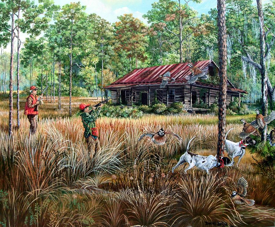 Quail hunting paintings - photo#14