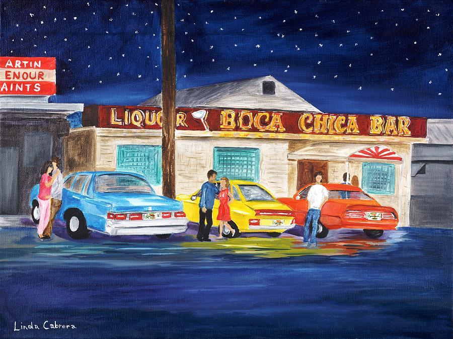 Boca Chica Bar Painting - Boca Chica Bar by Linda Cabrera