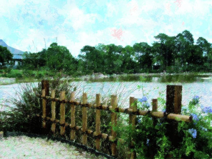 Boca Morikami Gardens Mixed Media By Florene Welebny