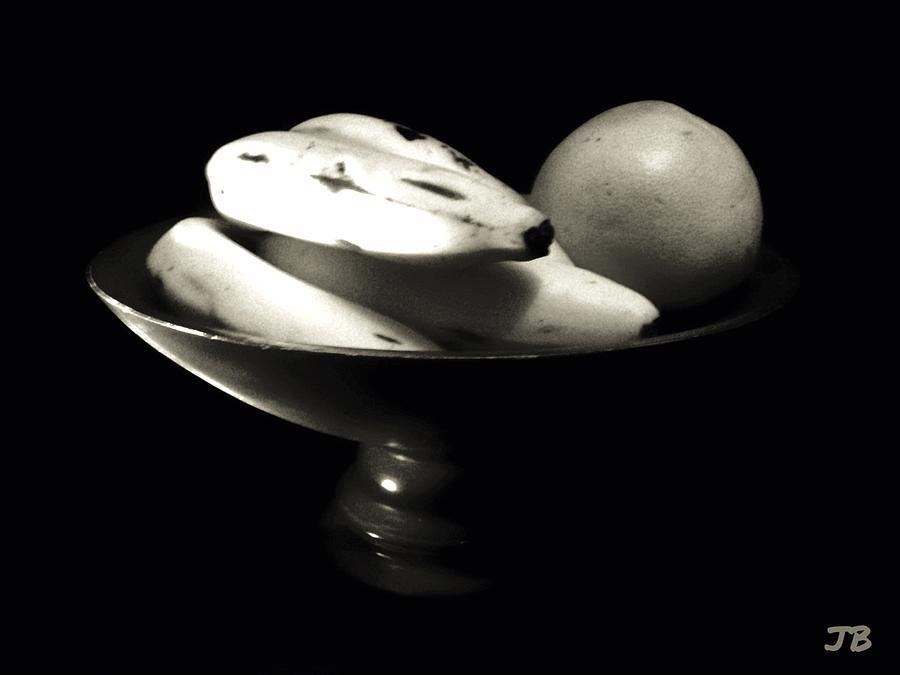 Bodegon  Canva Photograph - Bodegon Black And White by Jorge Bencosme