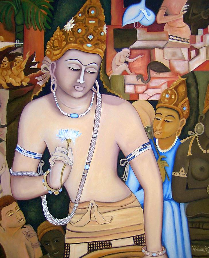 Bodhisattva Padmapani Painting