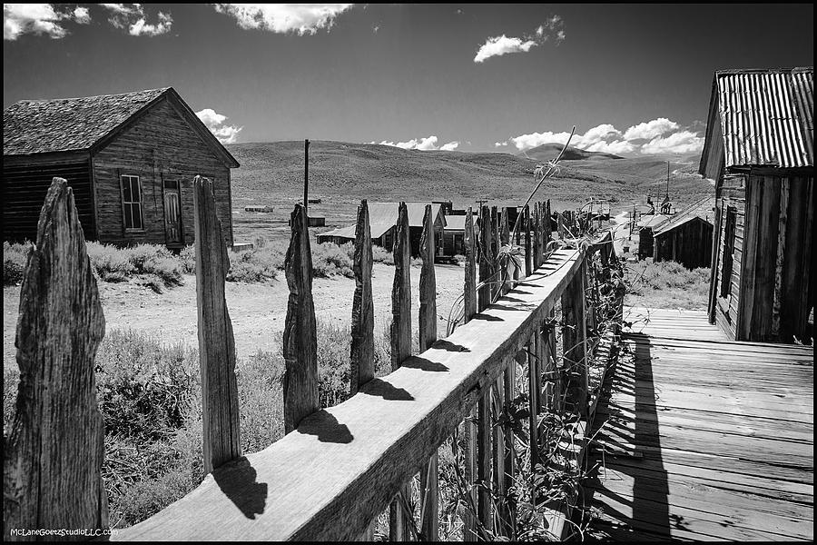 Bodie Photograph - Bodie California Long Dusty Road by LeeAnn McLaneGoetz McLaneGoetzStudioLLCcom