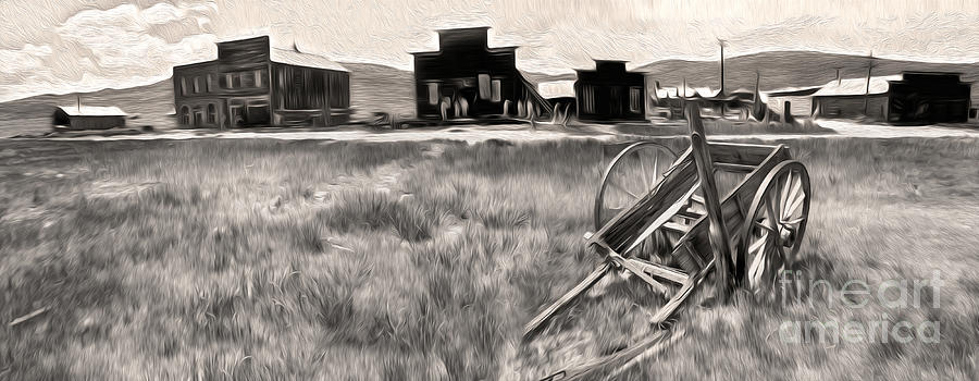 Bodie Ghost Town Painting - Bodie Ghost Town - 03 by Gregory Dyer