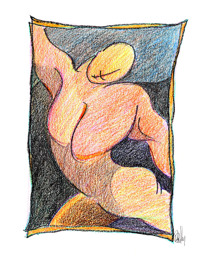 Body 59 Drawing  - Body 59 Fine Art Print