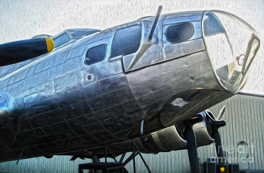 Boeing Flying Fortress B-17g  -  01 Painting  - Boeing Flying Fortress B-17g  -  01 Fine Art Print
