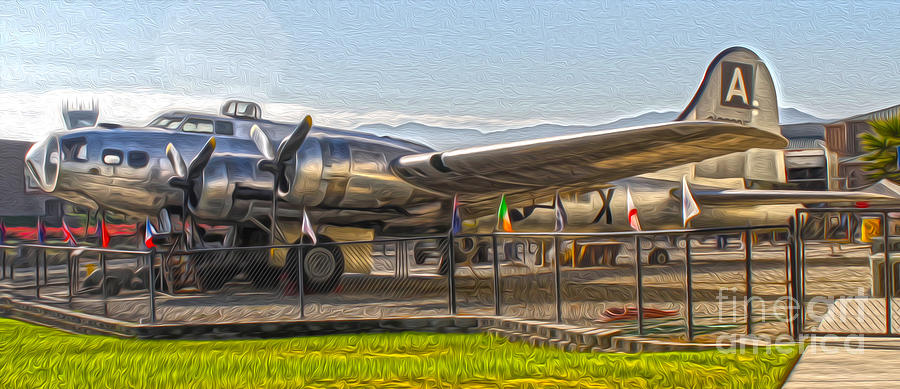 Boeing Flying Fortress B-17g  -  05 Painting  - Boeing Flying Fortress B-17g  -  05 Fine Art Print