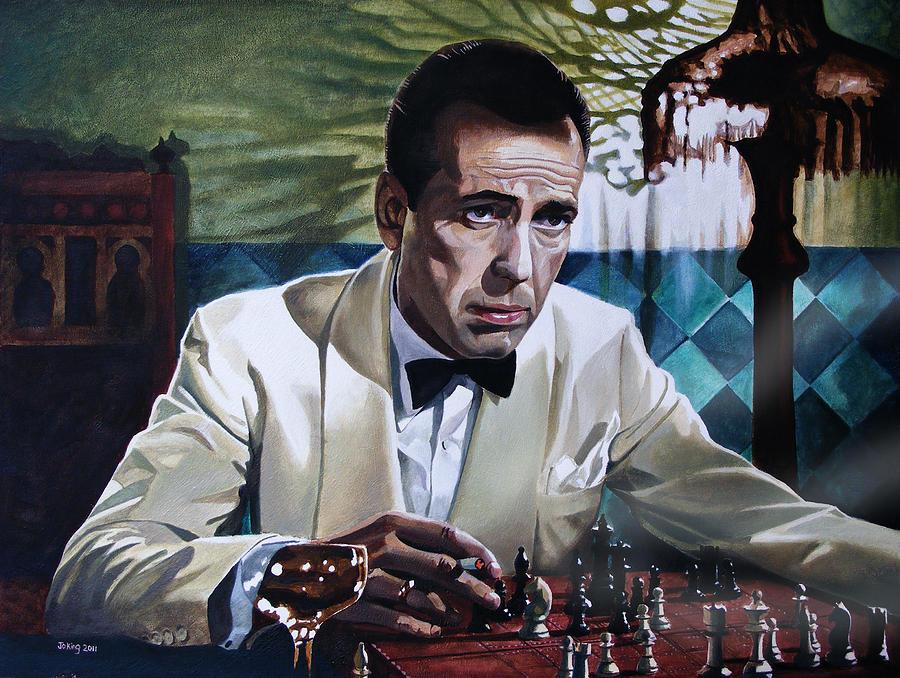 Humphrey Bogart Painting - Bogart - Casablanca by Jo King