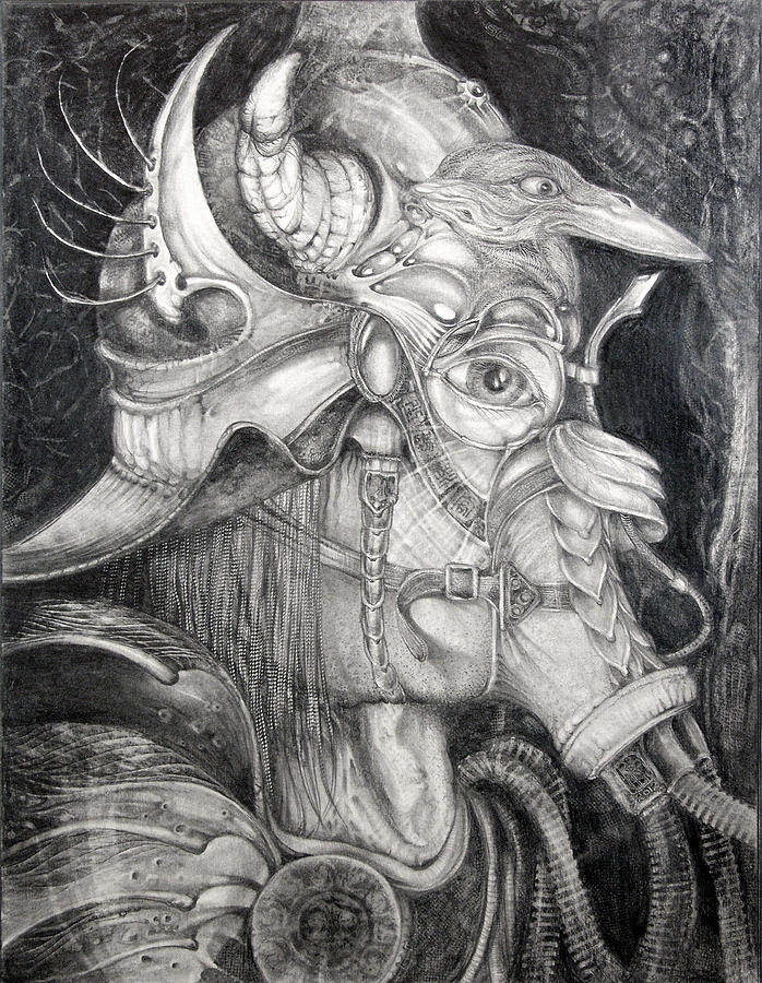 Bogomil Drawing - Bogomils Duckhunting Mask by Otto Rapp
