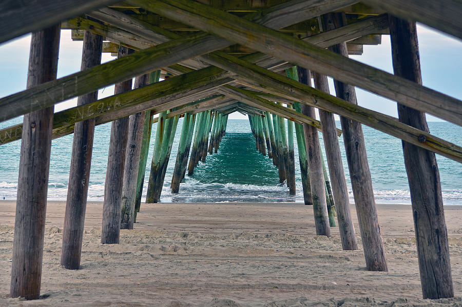 Bogue Banks Fishing Pier Photograph  - Bogue Banks Fishing Pier Fine Art Print