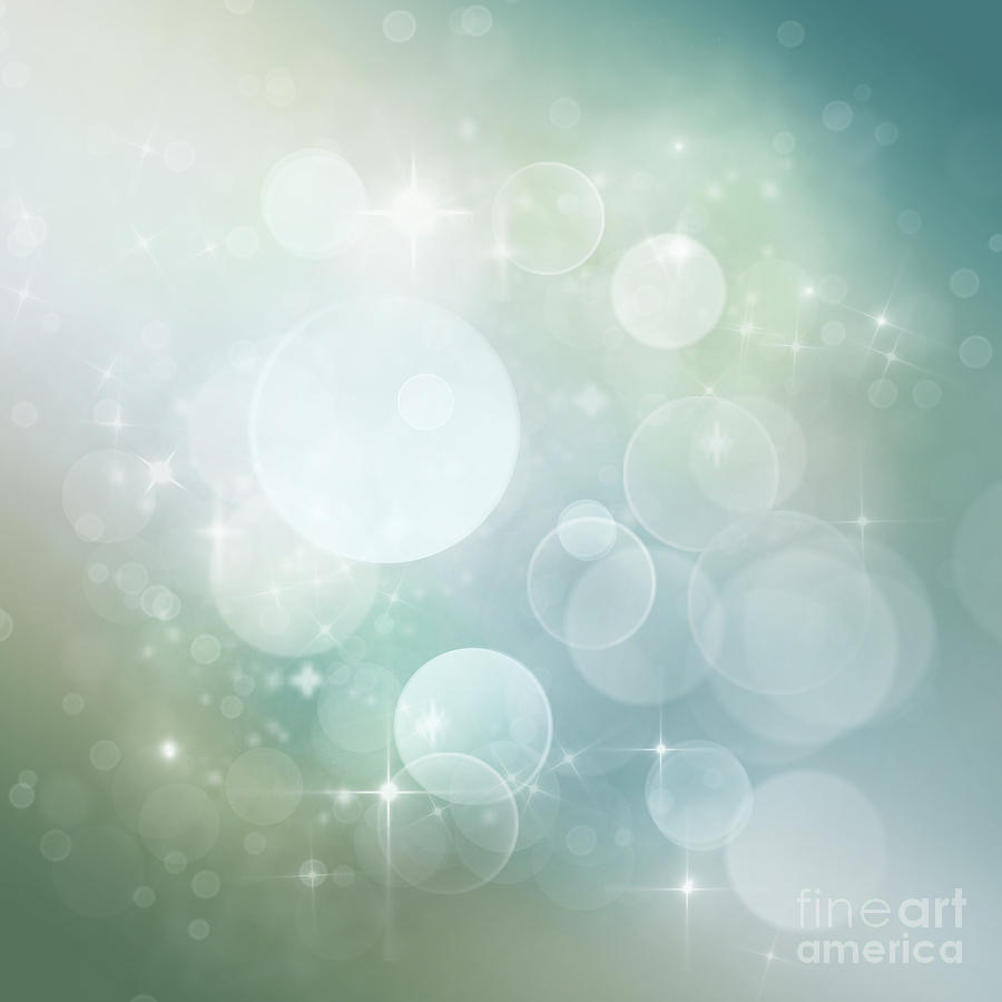 Digital Art - Bokeh Background by Mythja  Photography